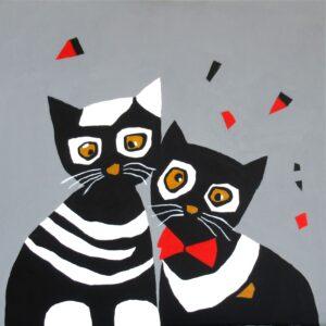 """""""Koty czarno-białe"""", cykl Odcienie Szarości"""