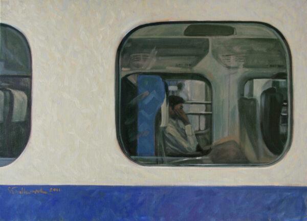 "Tytuł: ""Shinkansen"", Tokyo (cykl: JAPANORAMA)"