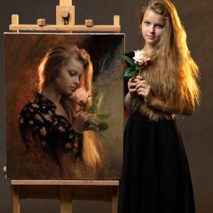 Damian Lechoszest painting